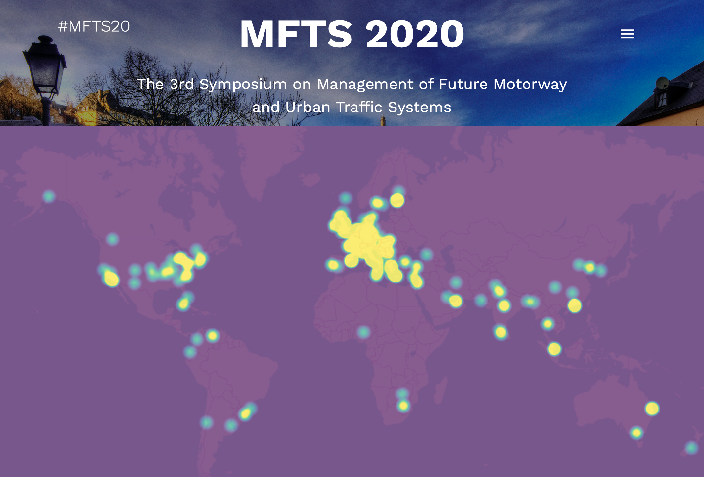 A geographical visualisation of the MFTS participants worldwide coverage